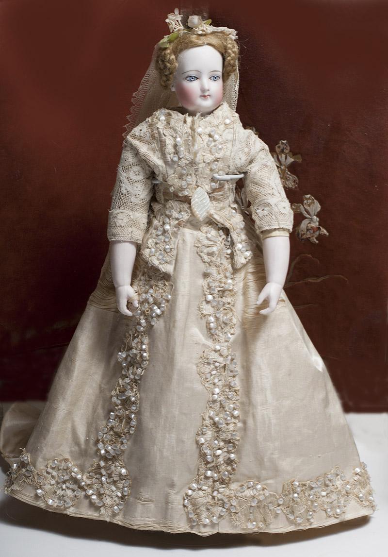 Редкая французская модная кукла от Дома Giroux - 1865 г.