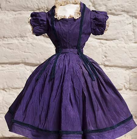 Purple Silk Dress for Fashion doll