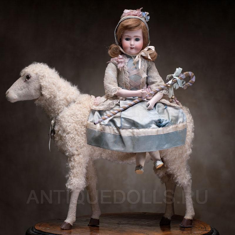 Кукла на Овечке. Франция-Германия, 1890-е годы