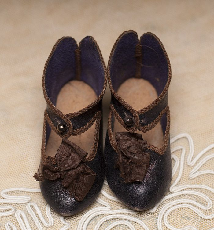 Antique original Jumeau shoes