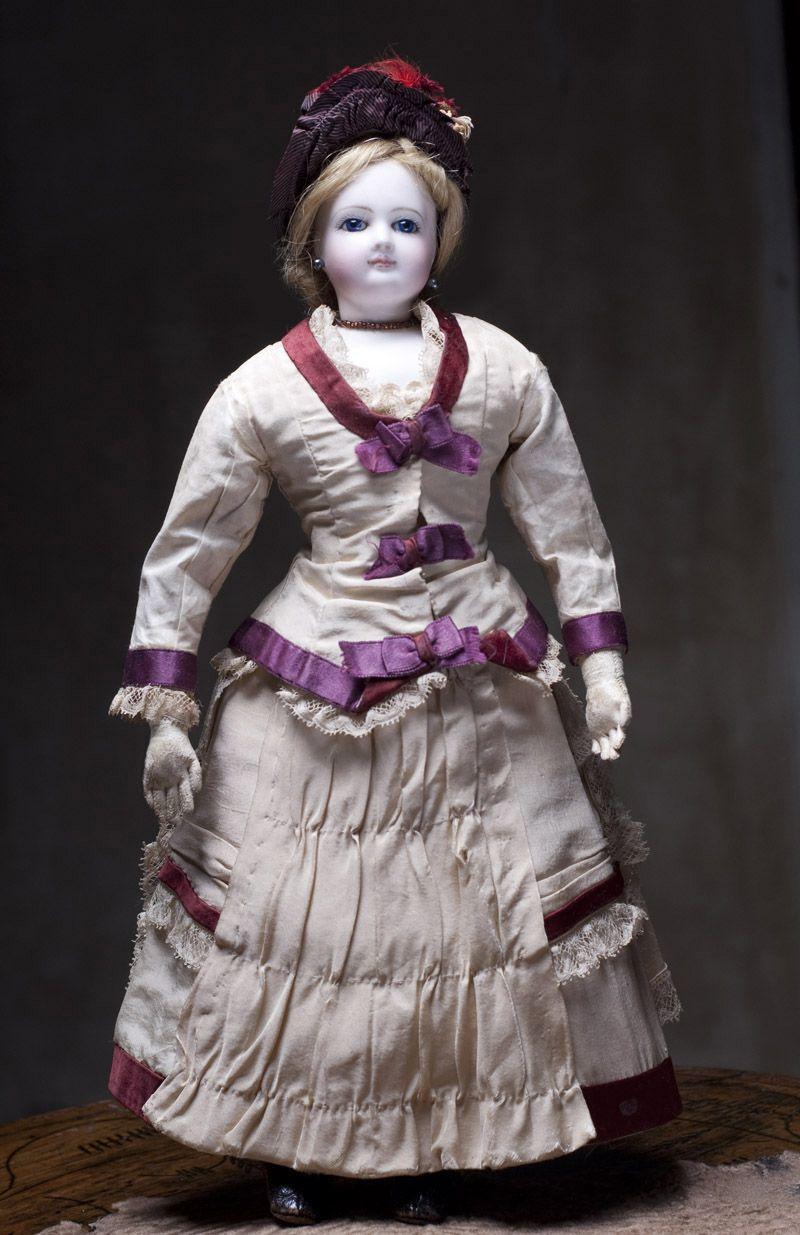 Модная кукла Simonne, высота 38 см, 1880-е годы, оригинальный костюм!