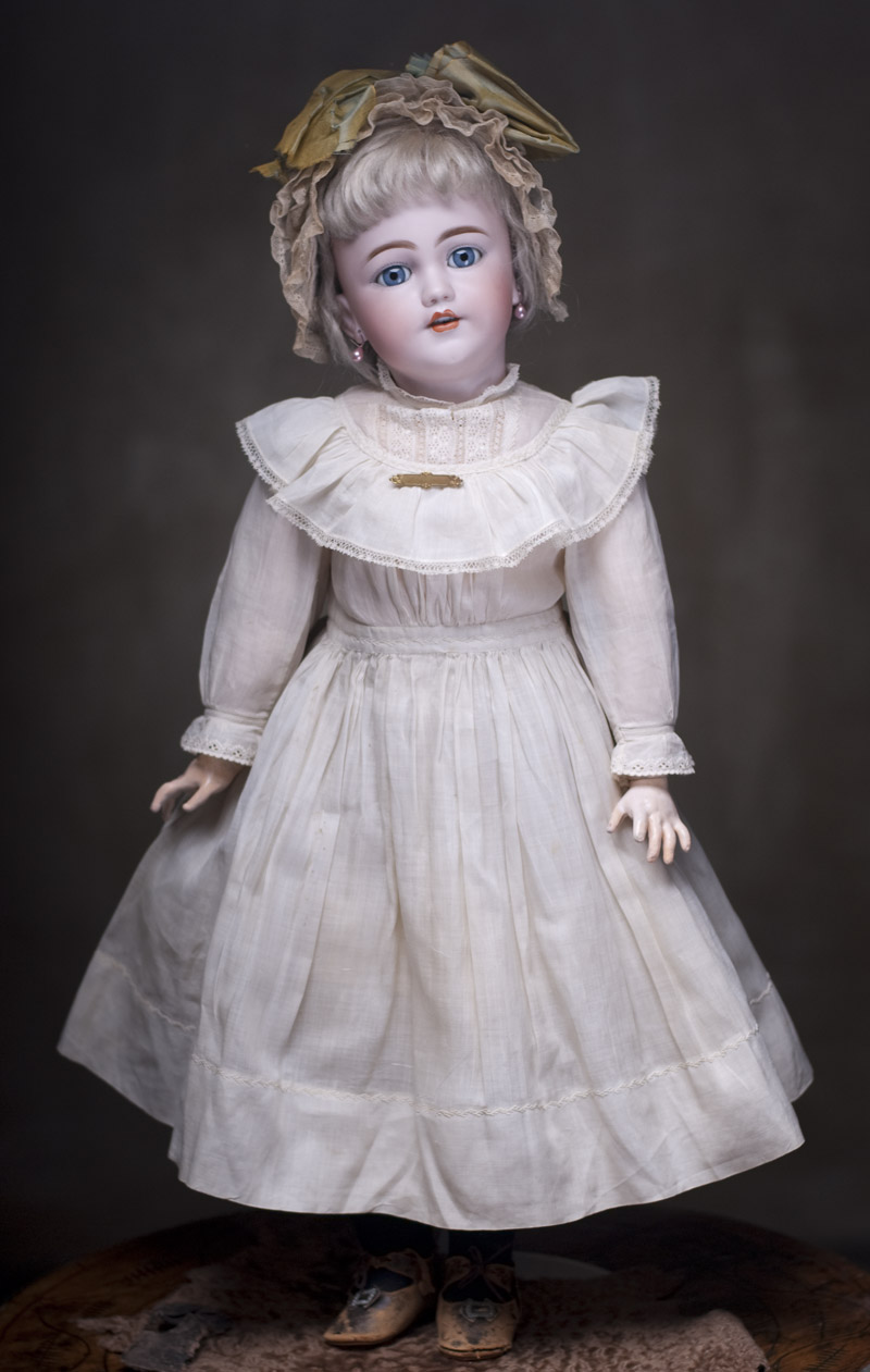60 см Редкая модель Санта, кукла фирмы Simon&Halbig, в оригинальном платье!