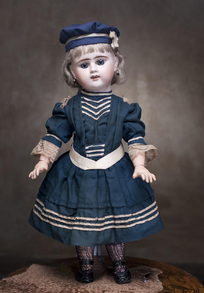 Редкая французская кукла Denamur, 60 см.