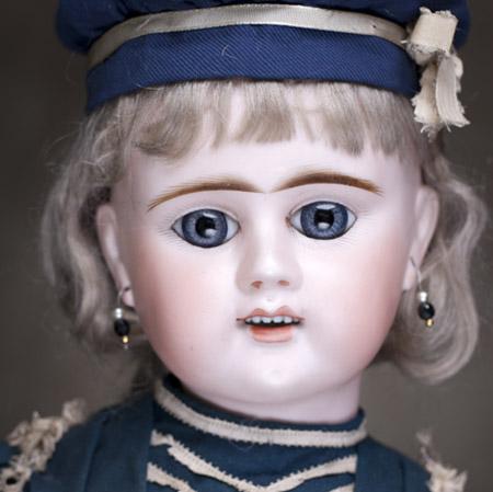 Редкая французская кукла Denamur 1890г, 60 см.