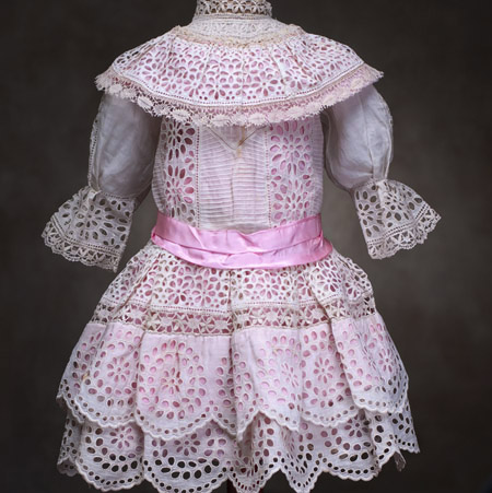 Antique white dress for doll 25-27""