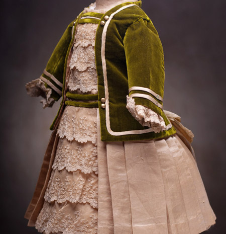 Antique French  Doll Dress