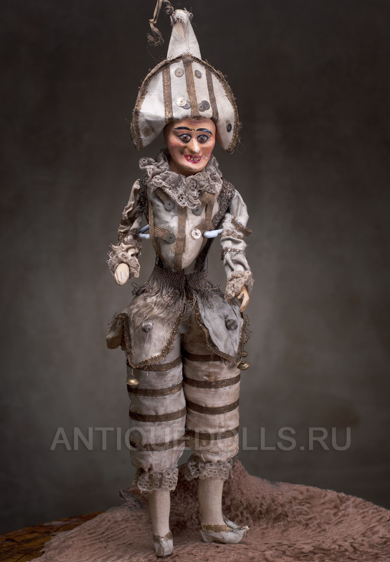 Редкая кукла ПОЛИШИНЕЛЬ 1885 г., высота 52 см