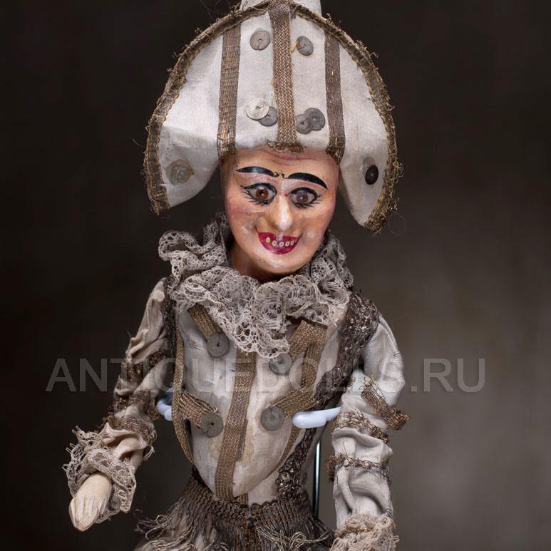 Редкая кукла ПОЛИШИНЕЛЬ 1885 г.