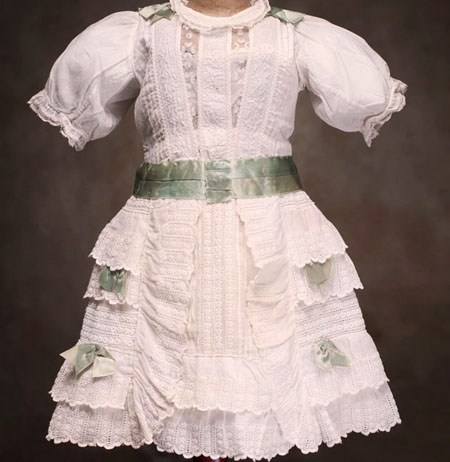 Antique Doll dress for doll 25-26""