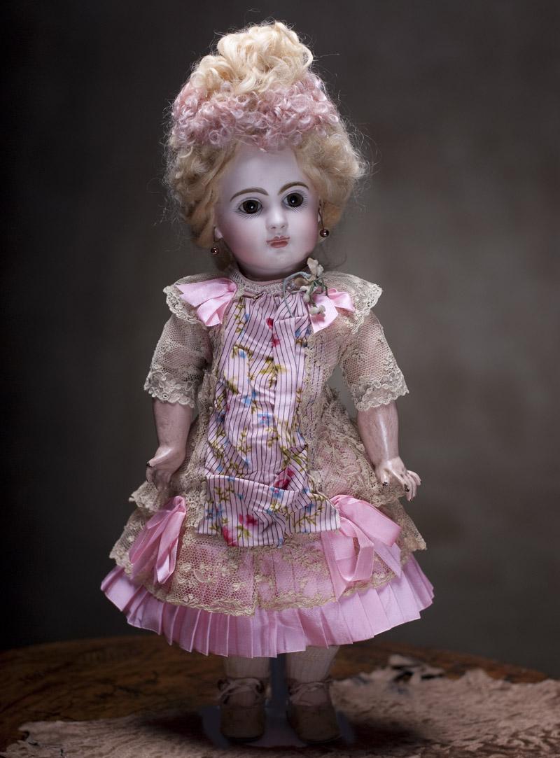 Кукла JUMEAU BEBE с закрытым ртом, кабинетного размера  36 см