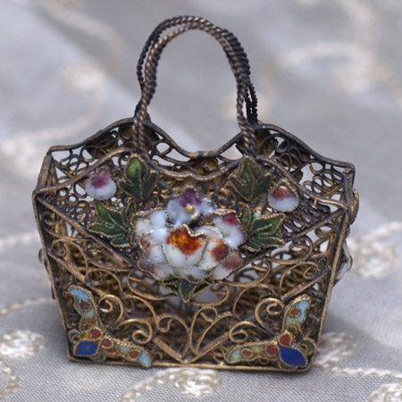 Cloisonne Enamel doll bag