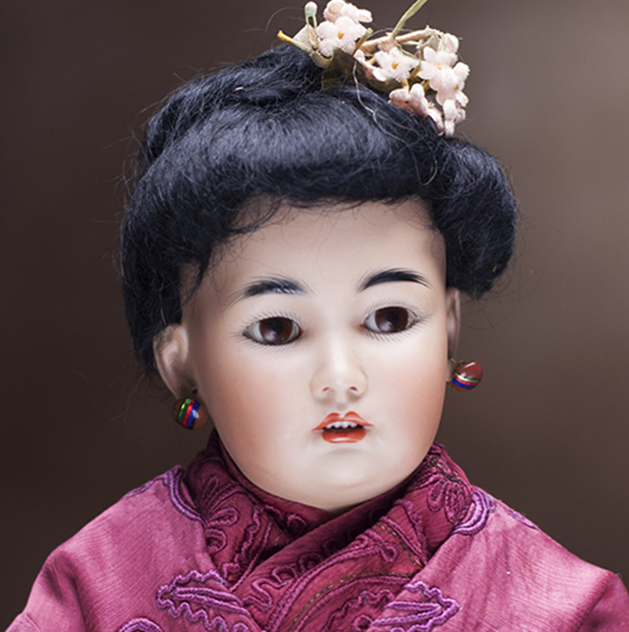 German Bisque Asian Child Doll,