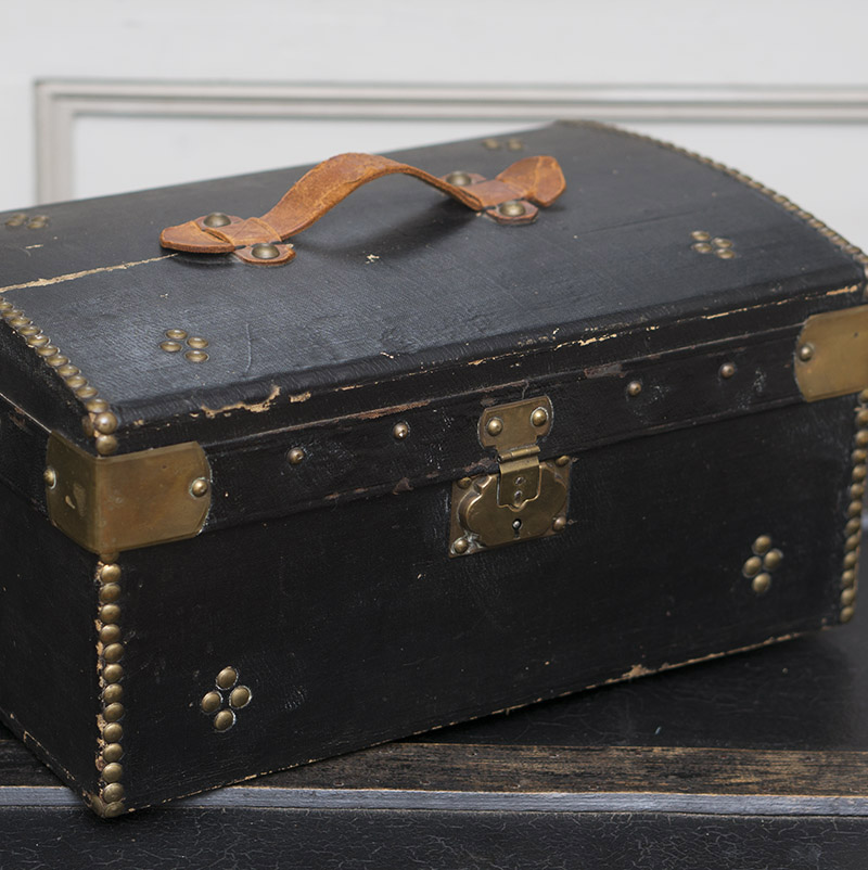 19th Century Wooden Doll Trunk