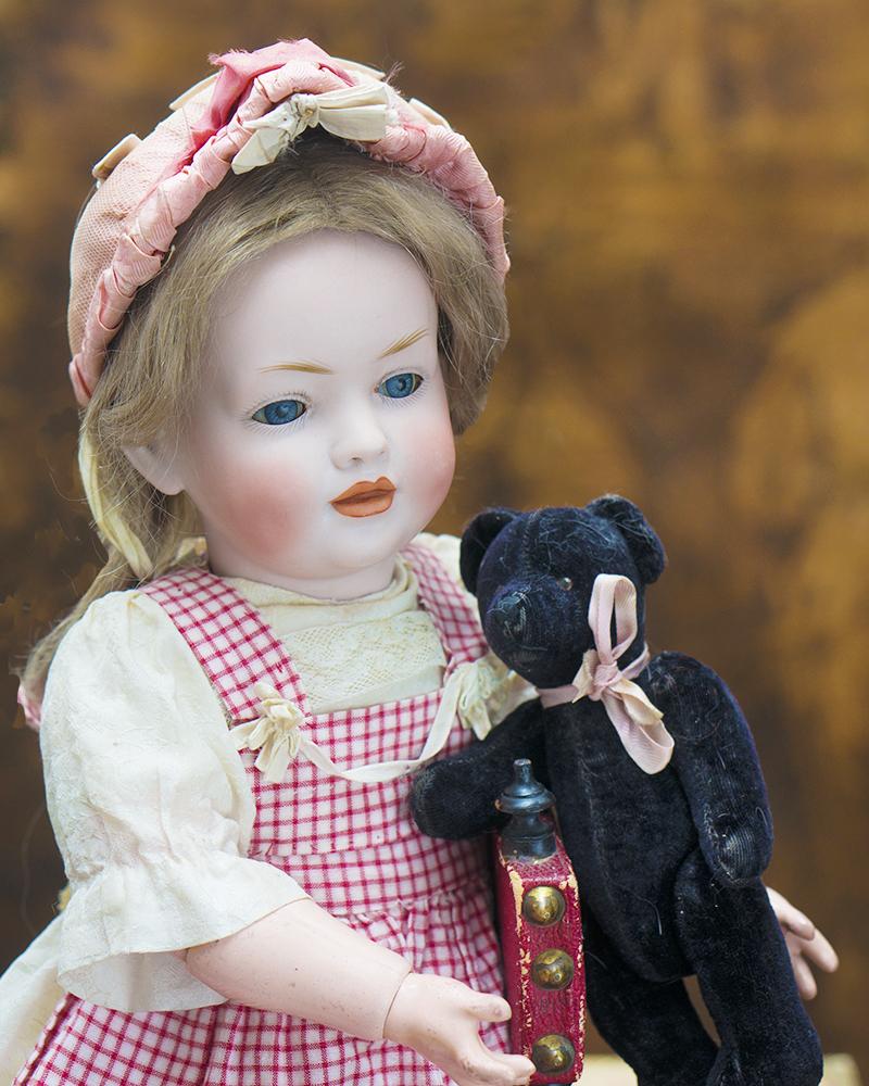 42см Очень редкая характерная кукла компании Hertel and Schwab, модель 141, 1912