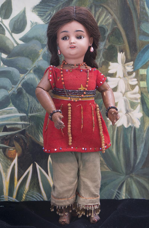 36см  Кукла-мулатка c флиртующими глазами, фирма Simon&Halbig