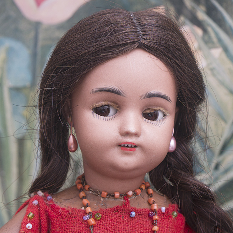 Antique German Mulatto doll