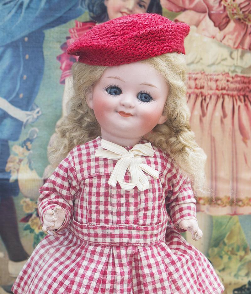 27 см Характерная кукла-Googly фирмы Heubach
