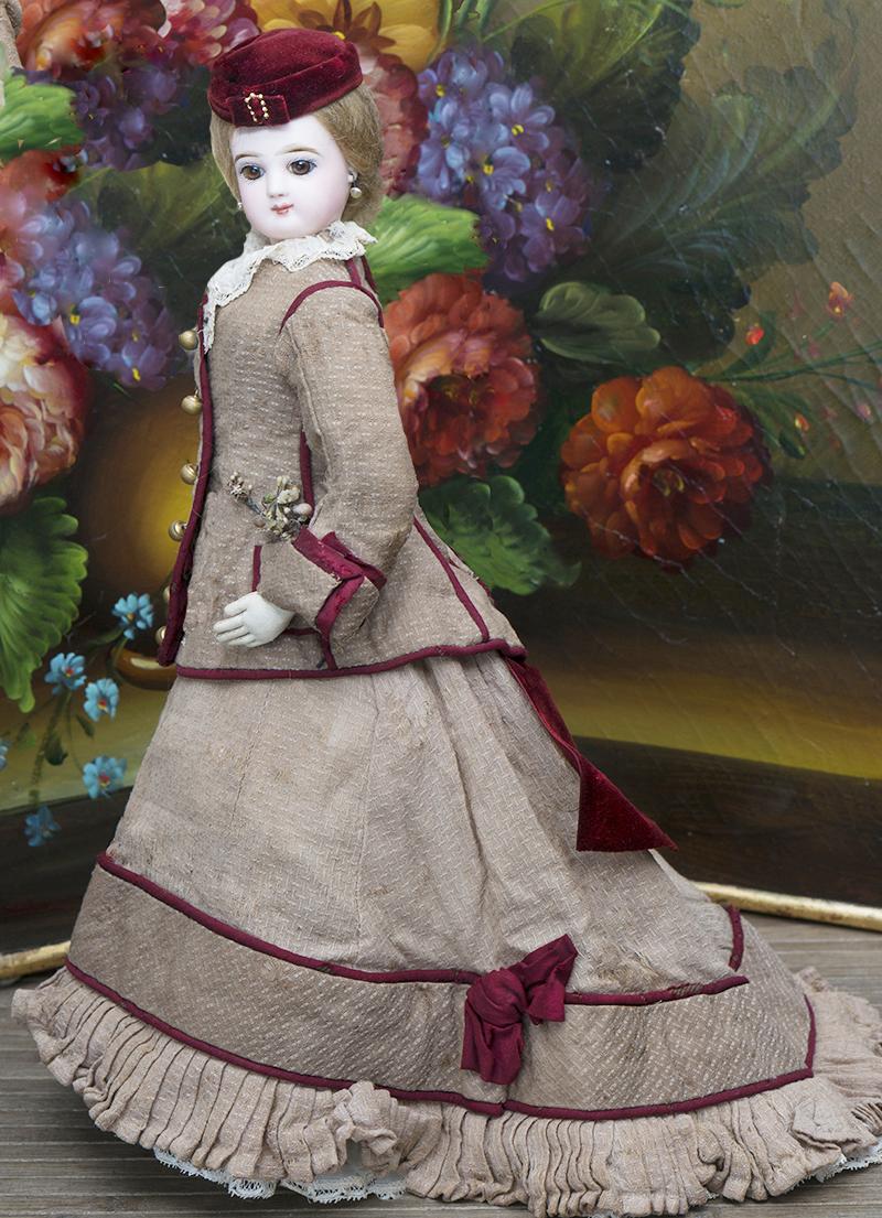 48см Модная кукла Jumeau в оригинальном костюме!