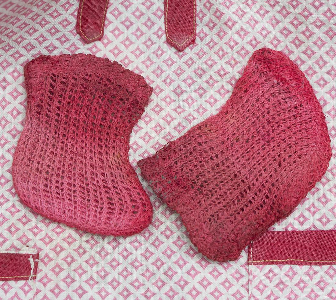 Red doll socks