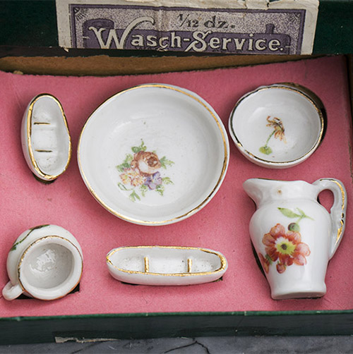 German Porcelain Miniature Toilette Set