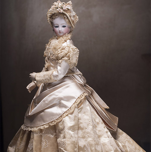 French Fashion gown and Bonnet