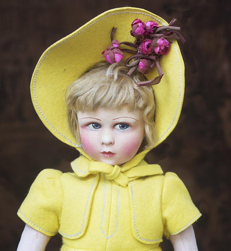 Французская фетровая кукла Raynal