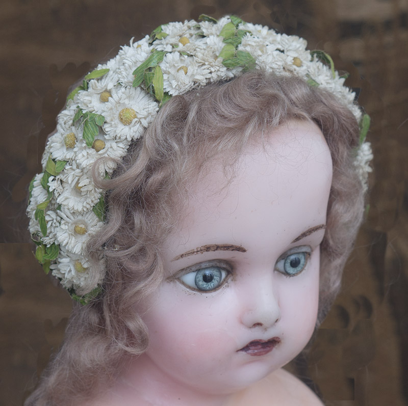 Antique doll headdress