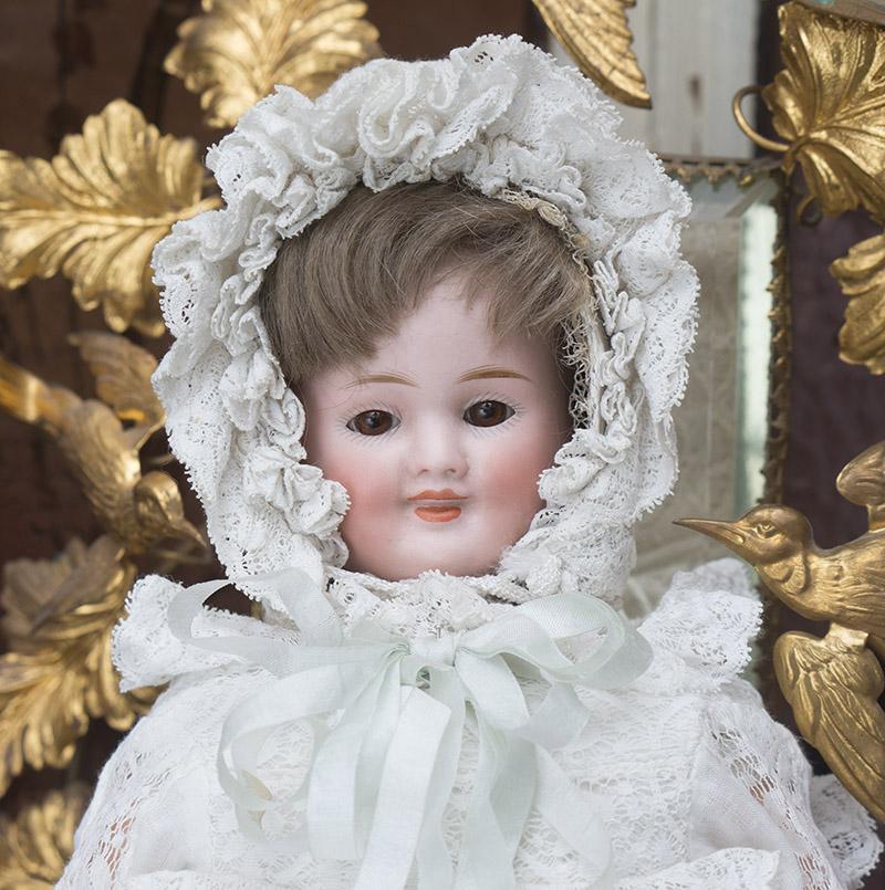 Редкая Характерная ТРЕХЛИЦАЯ кукла фирмы Карл Бергнер - Германия, 1890-е годы. Высота 33 см.