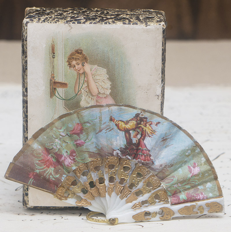 Lovely Small Antique French Fan 2 1/2