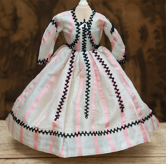 Antiue gown for French Fashion Doll