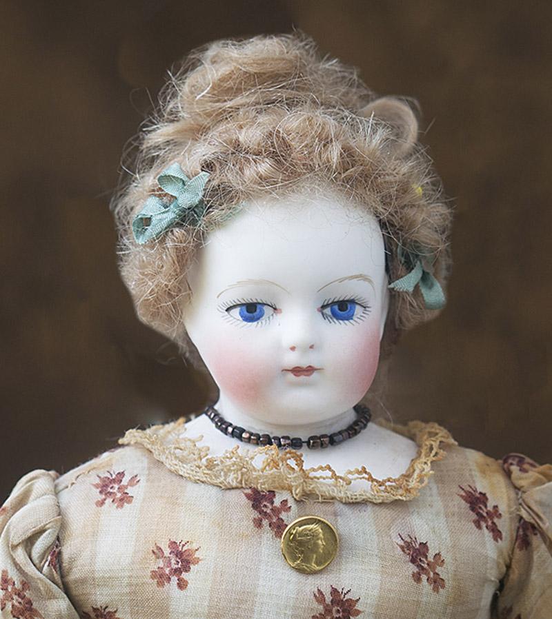 28 см Редчайшая модная кукла Gaudinot Popineau. 1860е годы