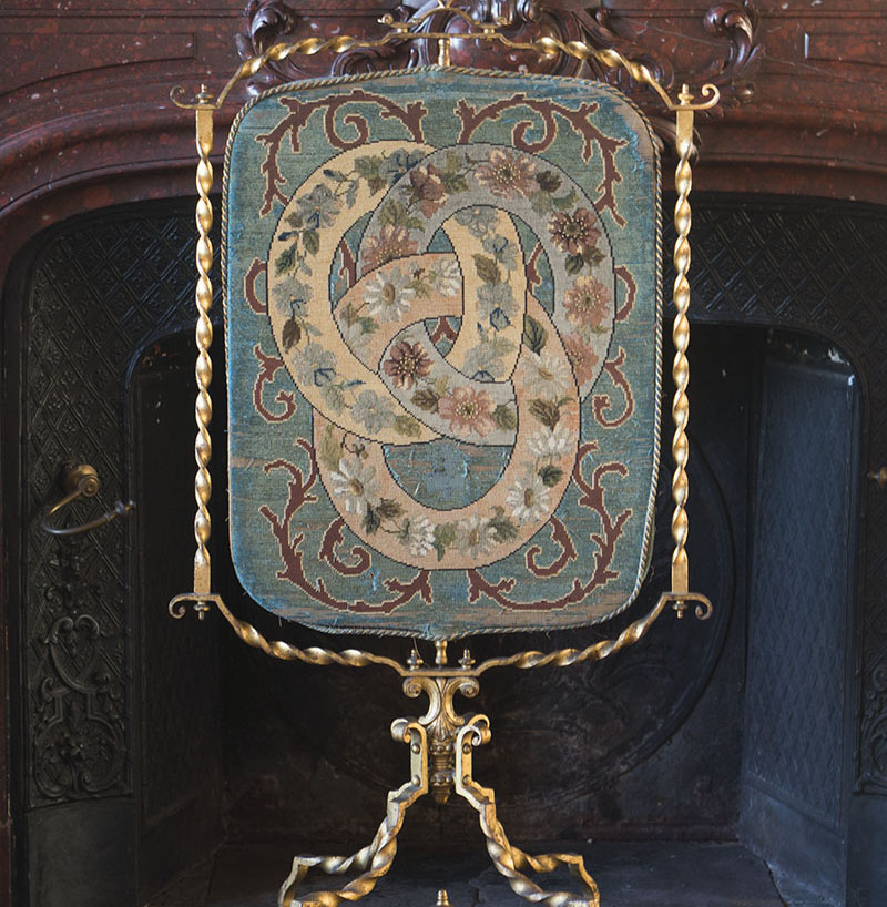 Superb Antique French Gilded Fire Screen by Maison Huret, c.1860