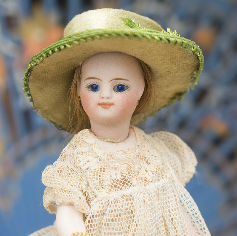 FRENCH ALL-BISQUE MIGNONETTE WITH GENTLE SMILE AND ORIGINAL COSTUME