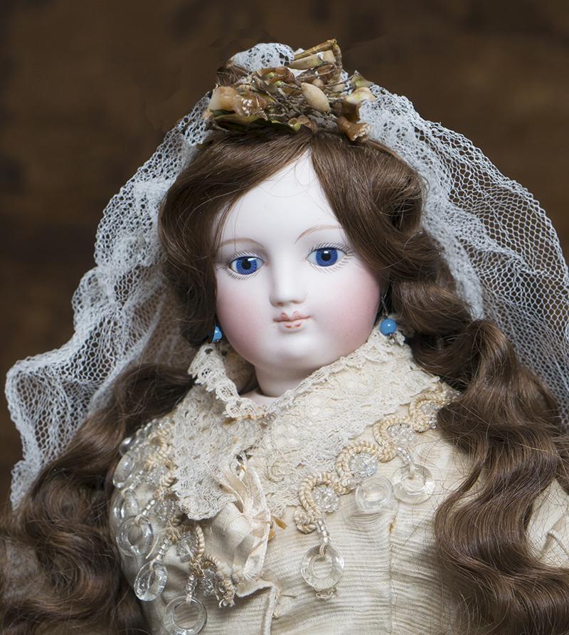 Ранняя Модная кукла Barrois в оригинальном свадебном костюме,  45см