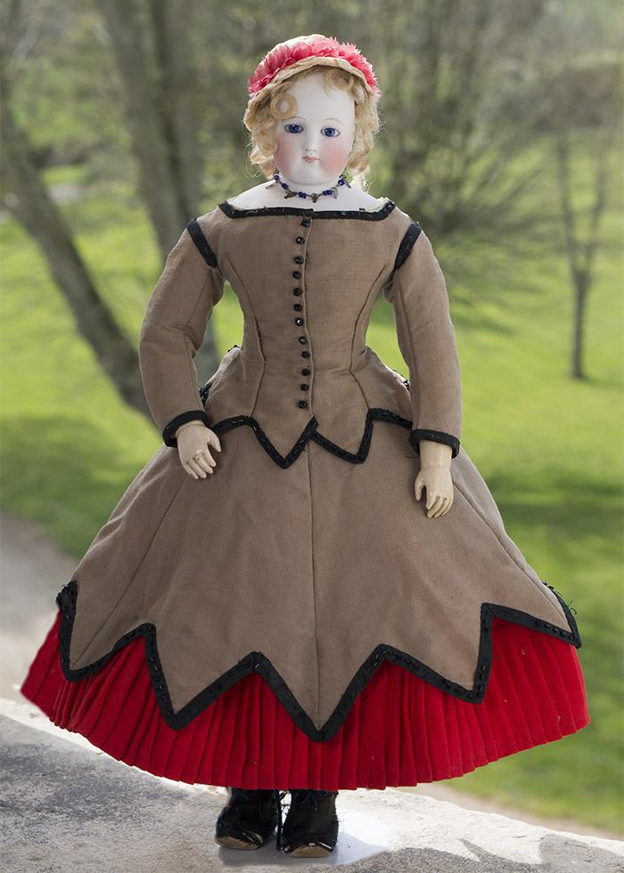 Французская Модная кукла Blampoix с деревянным телом. 46 см, 1860-е годы