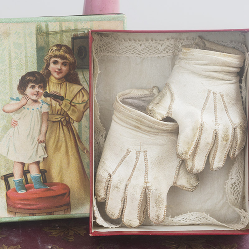 Antique Kid Gloves for Jumeau doll