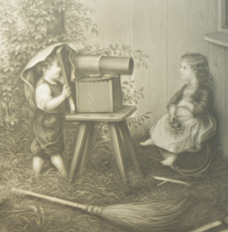 Rare Antique French Lithopane