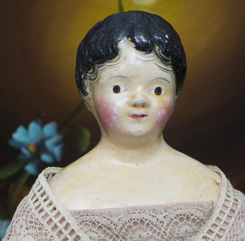 Papier mache german doll
