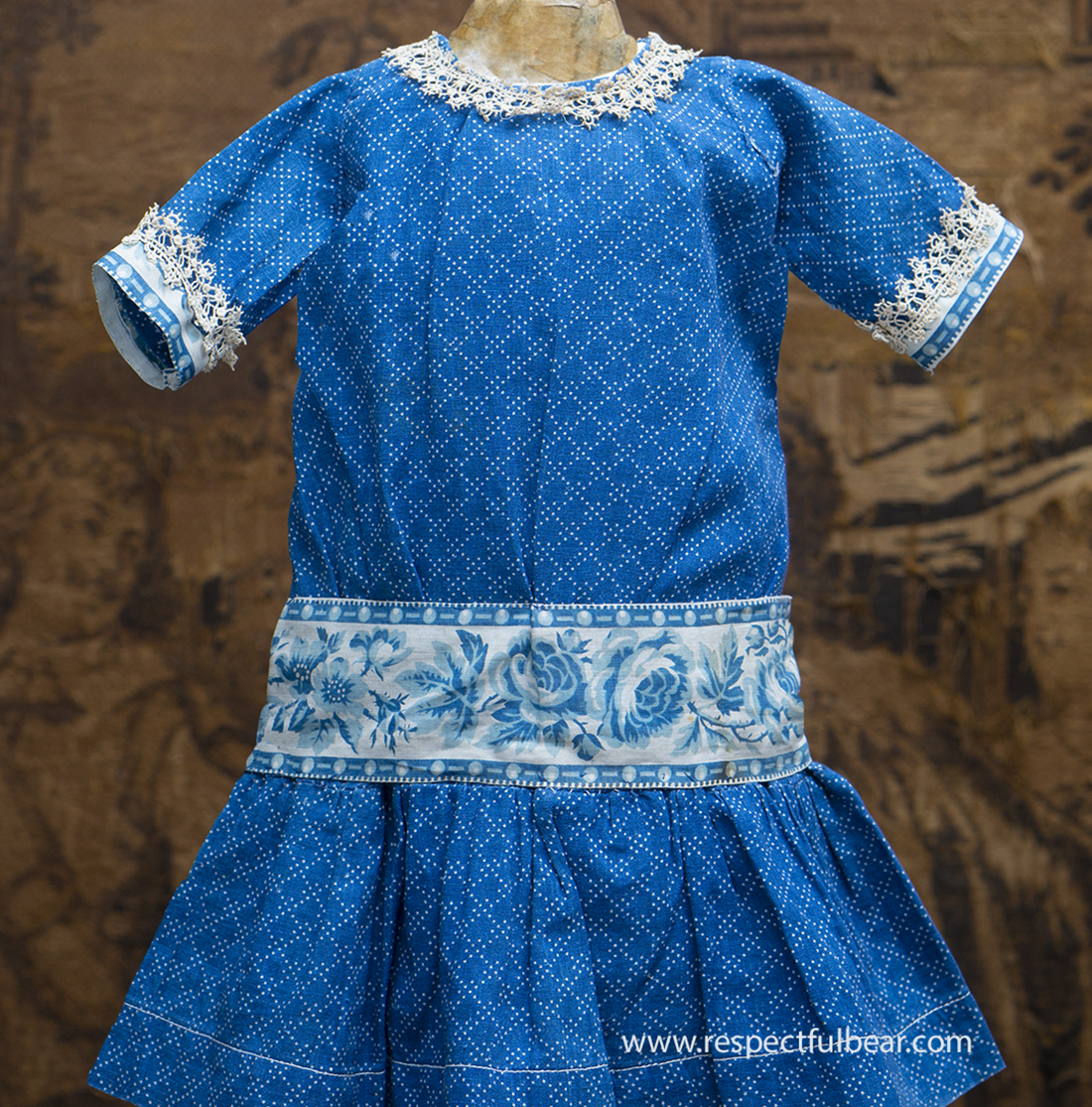 Antique doll Pinafore dress