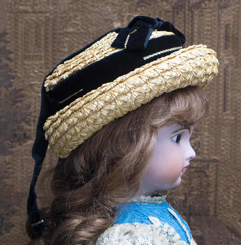 Antique Doll straw hat