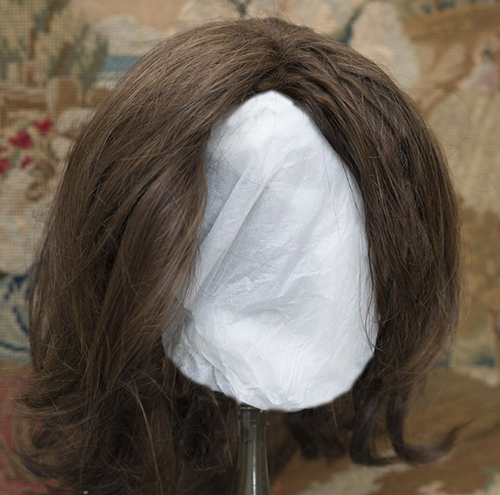 Antique Human Hair Wig for Large doll
