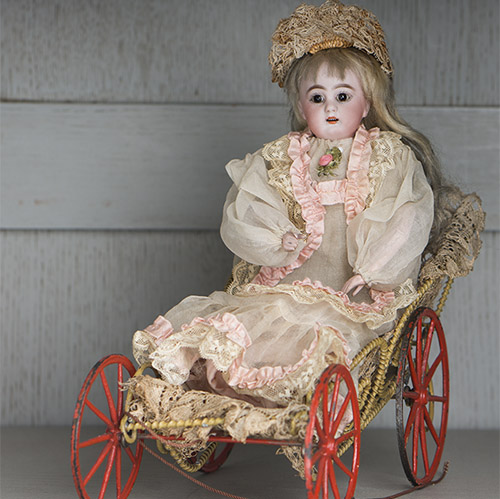 Mechanical Toy Doll with Carriage