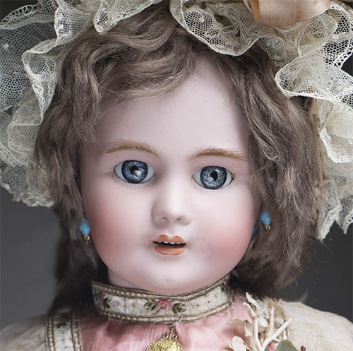 DEP doll with antique dress
