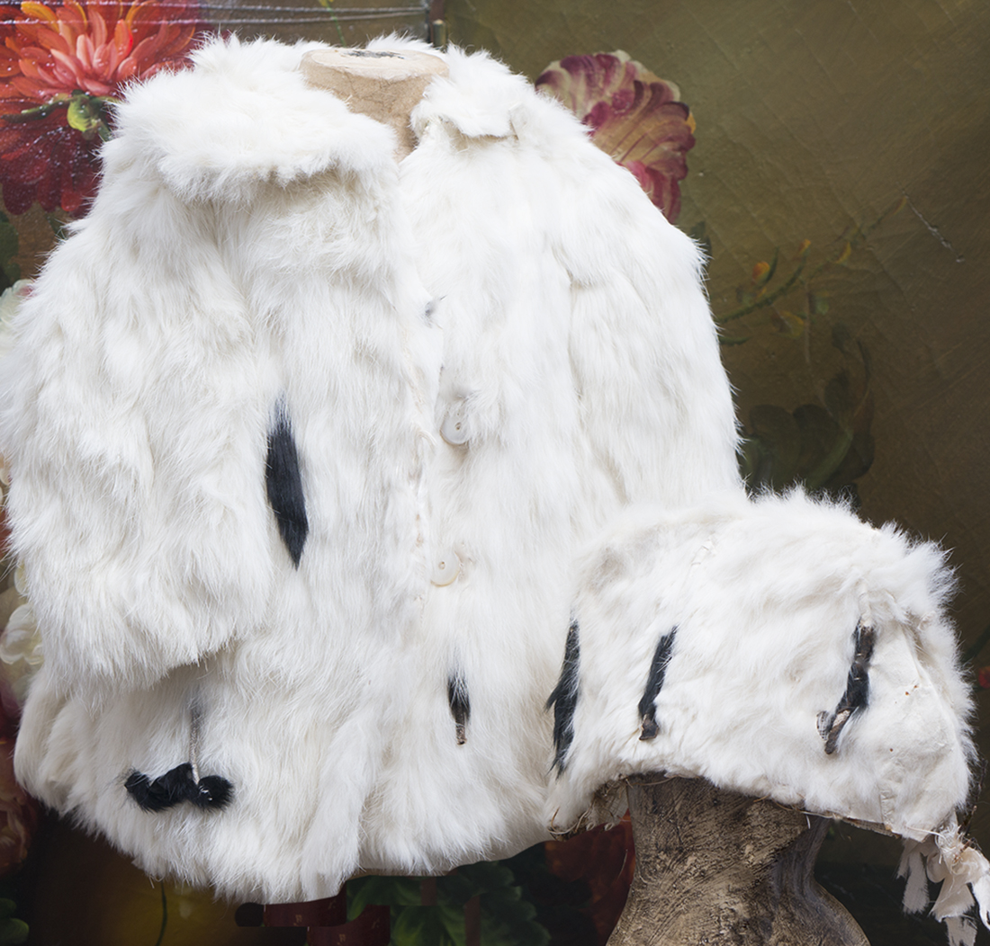 White Rabbit Fur Coat