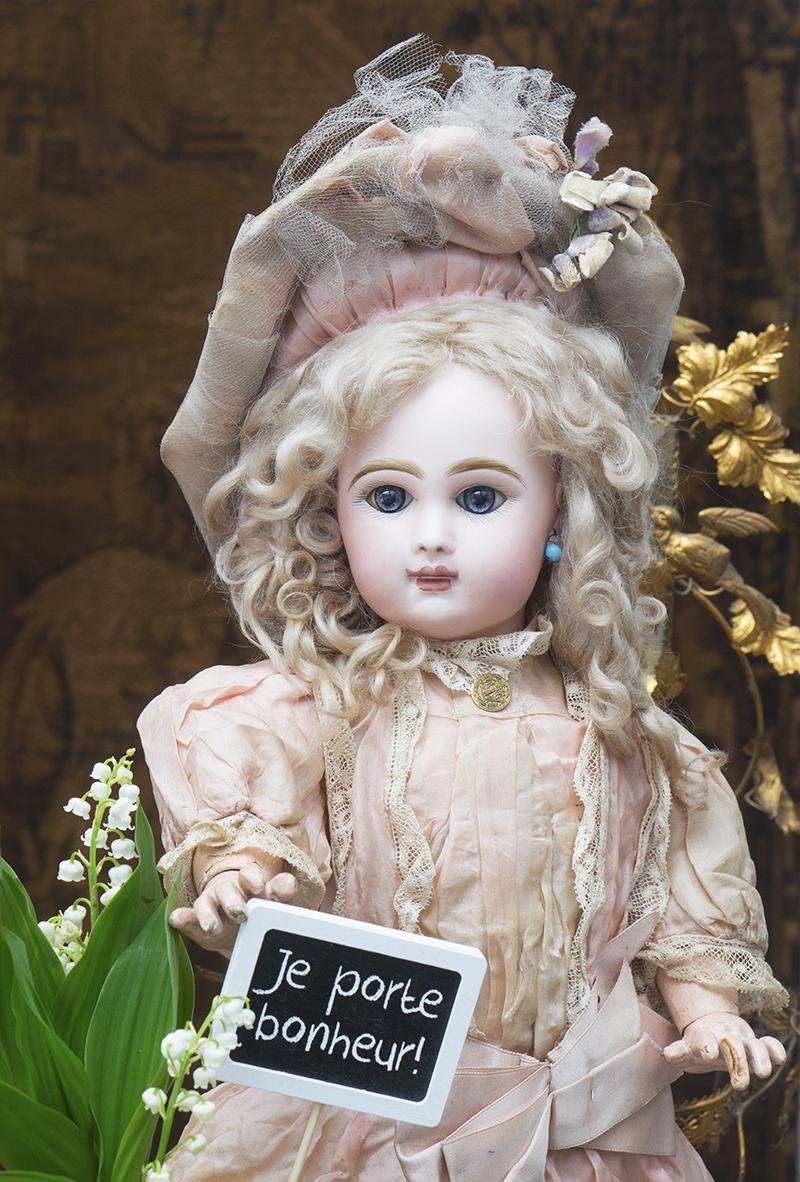 48см Кукла Jumeau  в оригинальном костюме, с закрытым ртом