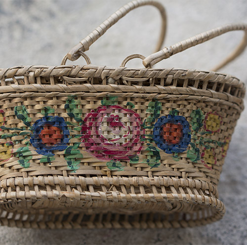 French Basket for fashion doll
