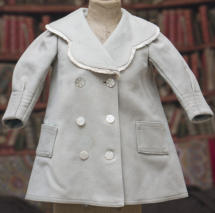 Aqua Wool Flannel Coat for French bebe