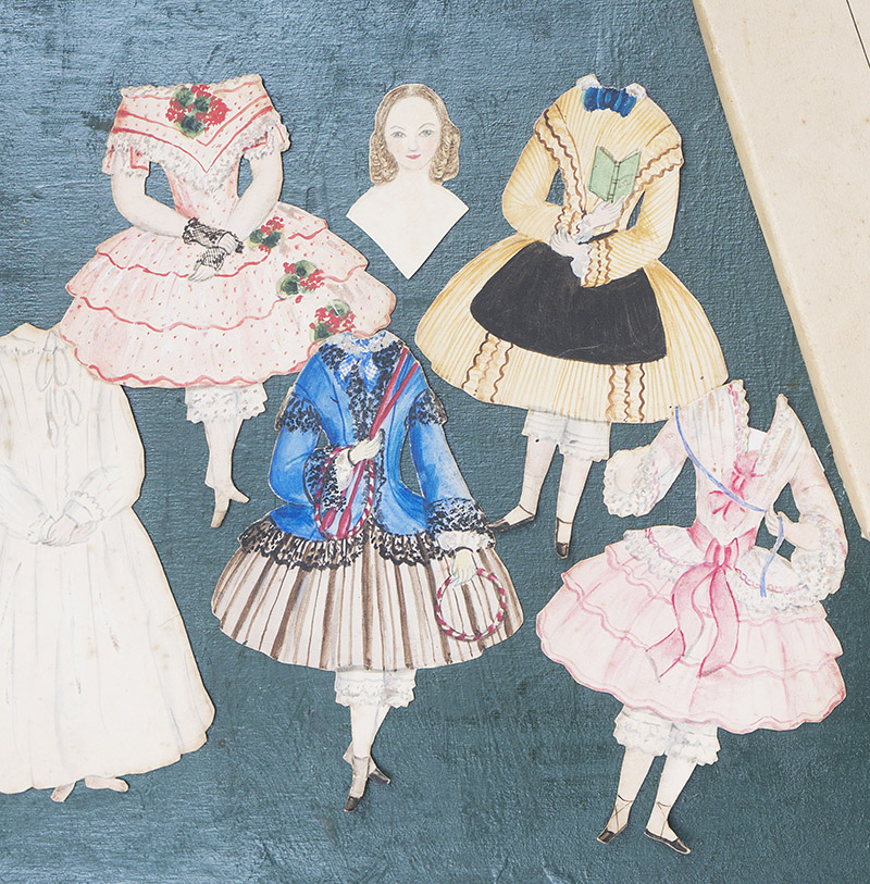 Paper doll with dresses