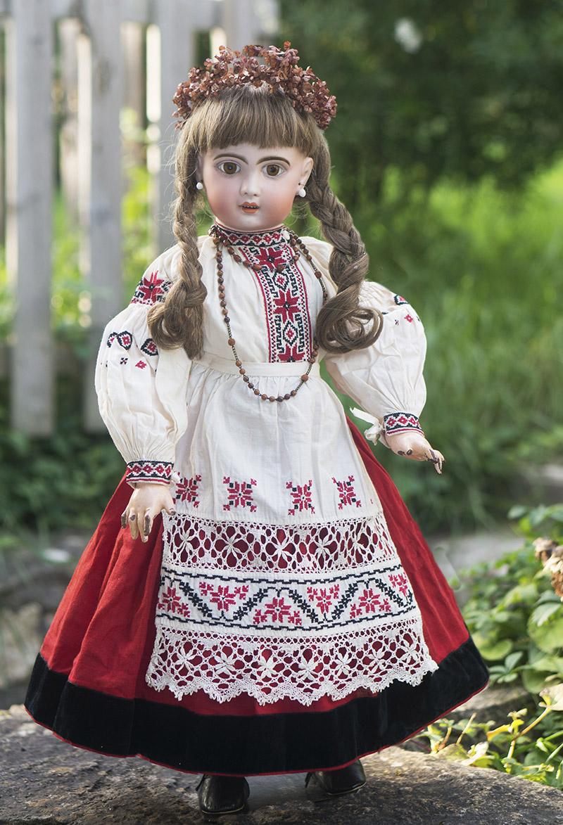 65 см Кукла Жюмо в оригинальном русском костюме, в коробке.
