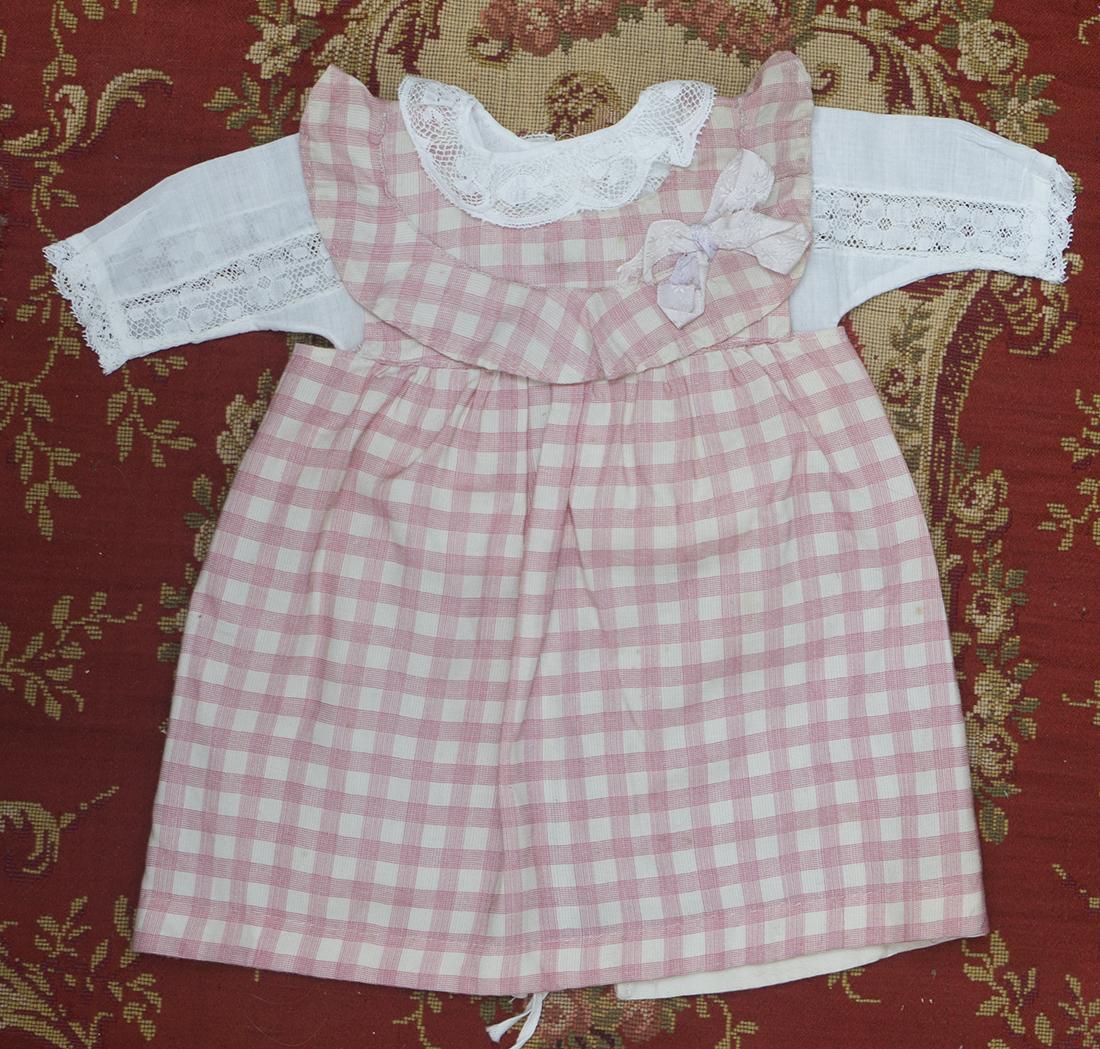 Antique pink checkered dress